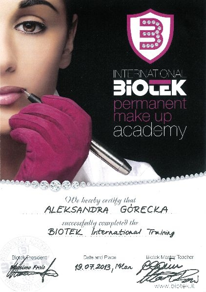 International BIOTEK permanent make up academy